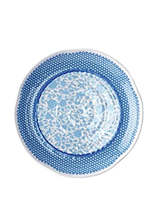 Q Squared NYC Blue & White Heritage Dinner Plate