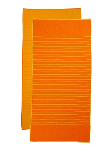 Espalma Jumbo Reversible 2-Piece Beach Towel Set, Orange/Yellow