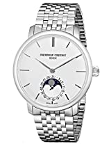 Frederique Constant Men's FC705S4S6B Slim Line Analog Display Swiss Automatic Silver Watch
