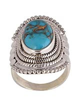 Blue Copper Turquoise Ring - Size 8