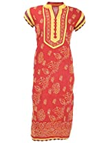 Chopra Enterprises Women's Cotton kurti (Ceckcrslvyl, Red, 36)