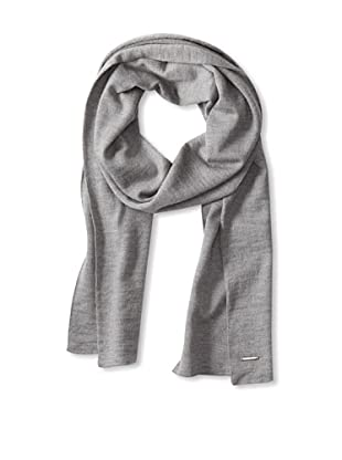 Calvin Klein Collection Men's Solid Double-Faced Knit Scarf (Light Heather Grey)