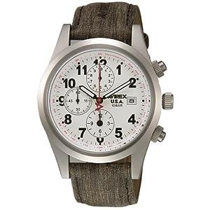 【クリックで詳細表示】[アビレックス]AVIREX 腕時計 レザー 1/20秒クロノ ホワイト メンズ AX-011M-3: 腕時計通販
