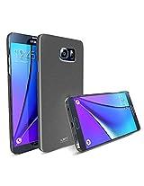 MTT Back Cover Slim Fit Case for Samsung Galaxy NOTE 5 - Dark Silver