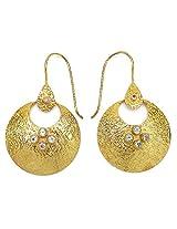 Silver Selection Brass Dangle & Drop Earings For Women White