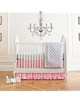 Summer Infant 4 Piece Classic Bedding Set with Adjustable Crib Skirt, Parisian Pink