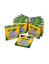 Crayola; Ultra-Clean; Broad Line Markers; Art Tools; 12 Packs of 10 ct. Markers; Bright, Bold Washable Colors
