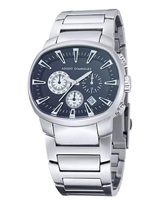 Adolfo Dominguez Watches 70051 - Reloj de Caballero cuarzo brazalete metálico dial Negro