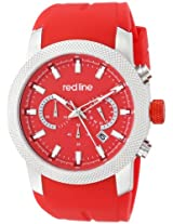 red line Men's RL-10017-05 Gauge Analog Display Japanese Quartz Red Watch