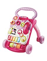 Pink Walker With 2 Colorful Spinning Rollers, 3 Shape Sorters & 3 Light Up Buttons