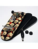 P Rep Skulls 30mm Graphic Complete Wooden Fingerboard W Cnc Lathed Bearing Wheels