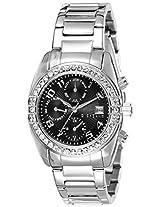 Giordano Analog Black Dial Women's Watch - GX2657-11