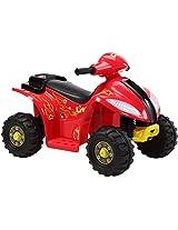 Brunte Battery operated Rideon Small ATV Hauler Red