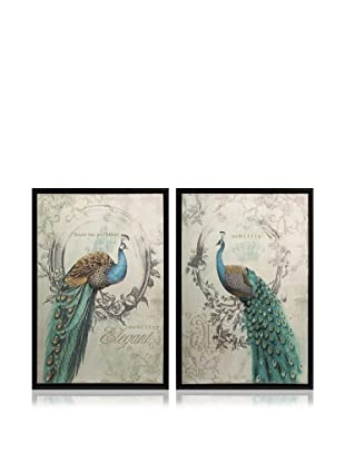 Set of 2 Panache Peacock Art