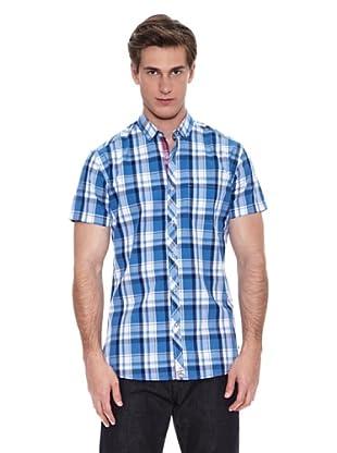Springfield Camisa Camisa Verano S1 Sunwash Check (Azul)