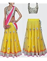 Net Gota Patti Embroidered Bollywood Style Lehenga - Get317