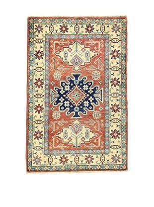 L'EDEN DEL TAPPETO Alfombra Uzebekistan Rojo/Multicolor 82 x 124 cm