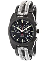 Android Hydraumatic AD430BKK 42MM Swiss Quartz Chronograph Analog Black Dial Unisex Black S.Steel Band Watch
