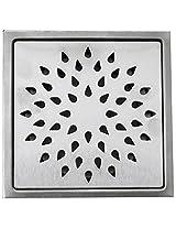 Aquieen Stainless Steel Floor Grating (Silver, Sunflower)
