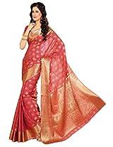 Meghdoot Tassar Silk Saree with Blouse Piece (Strawberry Pink)