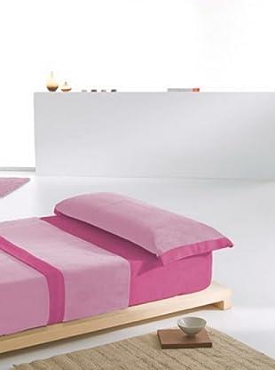 Barceló Juego de sábanas Coralina Coralina Lisa (Rosa)