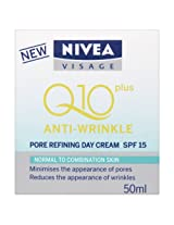 Nivea Visage Q10 Plus Anti Wrinkle Pore Refining Day Cream 50ml for Normal to Combination Skin