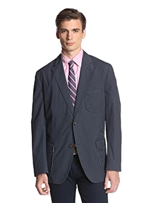 Kroon Men's Harrison Two Button Checked Sportcoat (Navy)