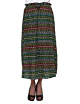 Tribal Printed Muticolour Long Skirt