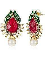 Ava  Drop Earrings for Women (Golden) (E-VS-1911)