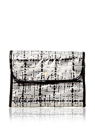 Trina Sandra 2-Piece Essential Travel Valet, White/Black
