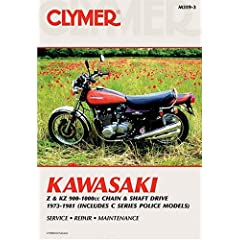 【クリックで詳細表示】Kawasaki Z & KZ 900-1000 cc Chain & Shaft Drive 1973-1981 (Clymer Motorcycle Repair): Penton Staff: 洋書
