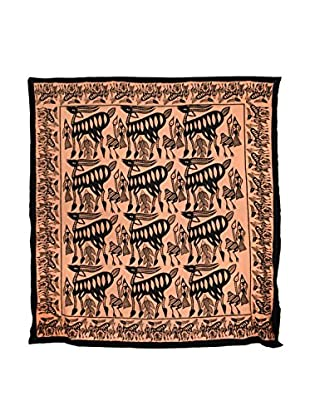 Uptown Down Previously Owned Large Animal Motif Coverlet