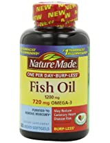 Nature Made Fish Oil, 1200mg, 720 mg OMEGA-3, 120-Count