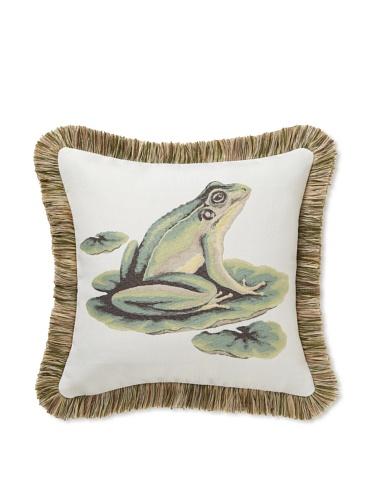 Elsa Blue Frog Indoor/Outdoor Pillow, 17