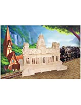 Puzzled Train Station Wooden 3D Puzzle Construction Kit