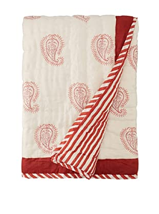 Suchiras Red Paisley Throw, Red, 45