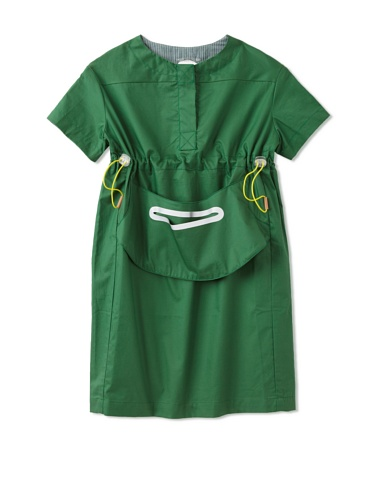 kicokids Girl's Work Wear Shift Dress (Grass)