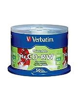 Verbatim 700MB 2x-4x DataLifePlus Silver Inkjet Printable Rewritable Disc CD-RW, 50-Disc Spindle 95159
