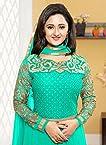 Rashmi Desai in Turquoise Green & Gold Anarkali Suit