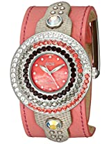EOS New York Women's 93LRED Safire Swarovski Accent Watch