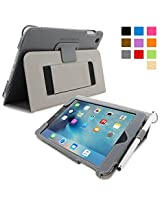 Snugg™ iPad Mini 4 Case - Smart Cover with Flip Stand & Lifetime Guarantee (Grey) for Apple iPad Mini 4 (2015)