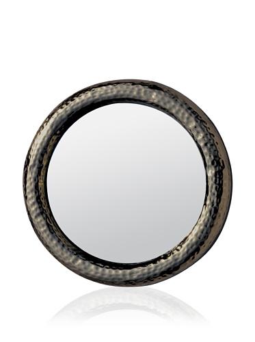 Made Goods Benet Hammered Brass Mirror (Black Nickel)