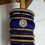Blue Traditional Bangle Set Of 18 2:6 Size