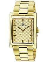 Titan Karishma Champagne Dial Watch For Men 90024YM02J