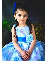 Magic Fairy Girls' Organza Dress [MF-199_Blue_9-10 Years]