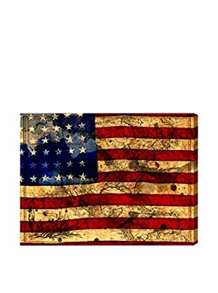 Oliver Gal Hatcher & Ethan 'The Flag' Canvas Art