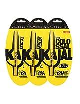 Maybelline Colossal Kajal, Black, 0.35g (Pack of 3)