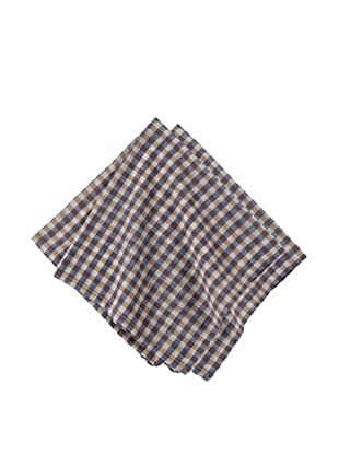 Couleur Nature Set of 2 Gingham Check Tea Towels (Blue)