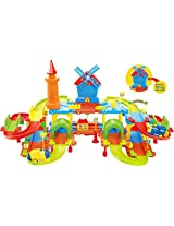Saffire Windmill Train Set with Three Levels, Bridges and Tunnels
