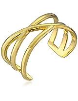 "Paige Novick ""Amber Collection"" Gold-Tone Cuff Bracelet"
